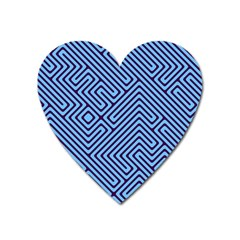 Blue Maze Magnet (heart) by LalyLauraFLM