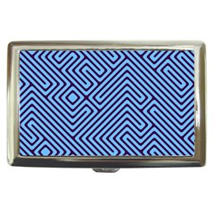 Blue Maze Cigarette Money Case by LalyLauraFLM