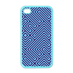 Blue Maze Apple Iphone 4 Case (color) by LalyLauraFLM