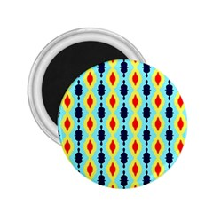 Yellow Chains Pattern 2 25  Magnet by LalyLauraFLM