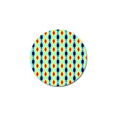 Yellow Chains Pattern Golf Ball Marker (4 Pack) by LalyLauraFLM