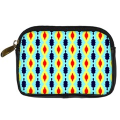 Yellow Chains Pattern Digital Camera Leather Case by LalyLauraFLM