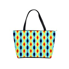 Yellow Chains Pattern Classic Shoulder Handbag by LalyLauraFLM