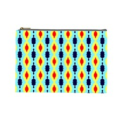 Yellow Chains Pattern Cosmetic Bag (large) by LalyLauraFLM