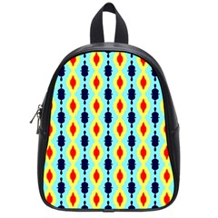 Yellow Chains Pattern School Bag (small) by LalyLauraFLM