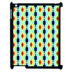 Yellow Chains Pattern Apple Ipad 2 Case (black) by LalyLauraFLM