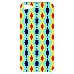 Yellow Chains Pattern Apple Iphone 5 Hardshell Case by LalyLauraFLM