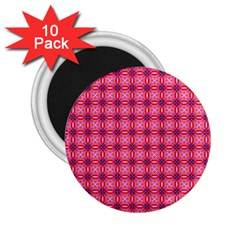 Abstract Pink Floral Tile Pattern 2 25  Button Magnet (10 Pack) by creativemom