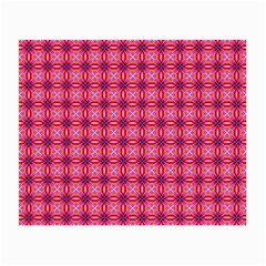Abstract Pink Floral Tile Pattern Glasses Cloth (small, Two Sided) by creativemom