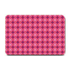 Abstract Pink Floral Tile Pattern Small Door Mat by creativemom