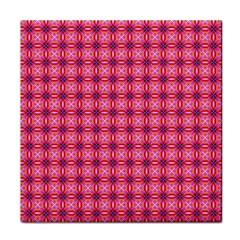 Abstract Pink Floral Tile Pattern Face Towel by creativemom