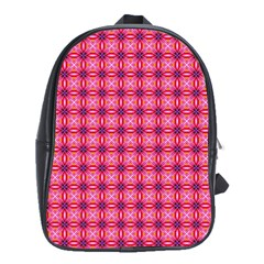 Abstract Pink Floral Tile Pattern School Bag (large) by creativemom