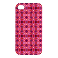 Abstract Pink Floral Tile Pattern Apple Iphone 4/4s Premium Hardshell Case by creativemom