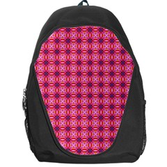 Abstract Pink Floral Tile Pattern Backpack Bag by creativemom