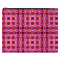 Abstract Pink Floral Tile Pattern Cosmetic Bag (xxxl) by creativemom