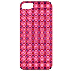 Abstract Pink Floral Tile Pattern Apple Iphone 5 Classic Hardshell Case by creativemom