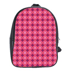 Abstract Pink Floral Tile Pattern School Bag (xl) by creativemom