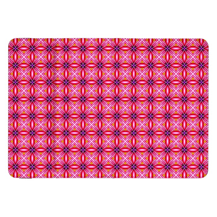 Abstract Pink Floral Tile Pattern Samsung Galaxy Tab 8.9  P7300 Flip Case