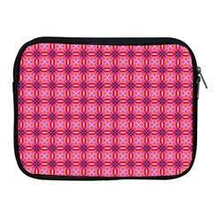 Abstract Pink Floral Tile Pattern Apple Ipad Zippered Sleeve by creativemom