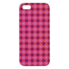 Abstract Pink Floral Tile Pattern Iphone 5s Premium Hardshell Case