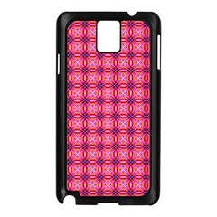 Abstract Pink Floral Tile Pattern Samsung Galaxy Note 3 N9005 Case (black) by creativemom