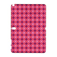 Abstract Pink Floral Tile Pattern Samsung Galaxy Note 10 1 (p600) Hardshell Case by creativemom