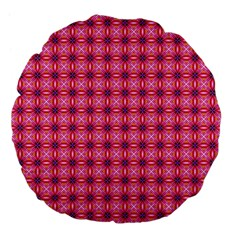 Abstract Pink Floral Tile Pattern 18  Premium Flano Round Cushion  by creativemom