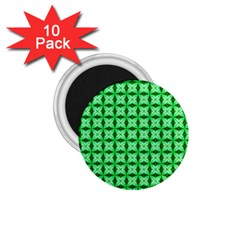 Green Abstract Tile Pattern 1 75  Button Magnet (10 Pack) by creativemom