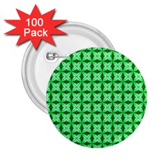 Green Abstract Tile Pattern 2 25  Button (100 Pack) by creativemom
