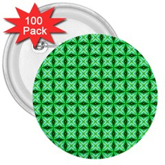 Green Abstract Tile Pattern 3  Button (100 Pack) by creativemom