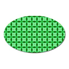 Green Abstract Tile Pattern Magnet (oval) by creativemom