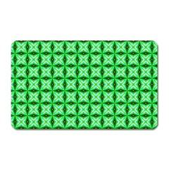 Green Abstract Tile Pattern Magnet (rectangular) by creativemom