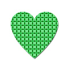 Green Abstract Tile Pattern Magnet (heart) by creativemom
