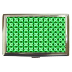 Green Abstract Tile Pattern Cigarette Money Case by creativemom