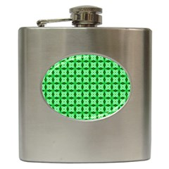Green Abstract Tile Pattern Hip Flask by creativemom