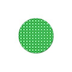 Green Abstract Tile Pattern Golf Ball Marker 4 Pack by creativemom