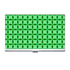Green Abstract Tile Pattern Business Card Holder by creativemom
