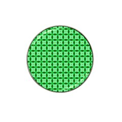 Green Abstract Tile Pattern Golf Ball Marker (for Hat Clip) by creativemom