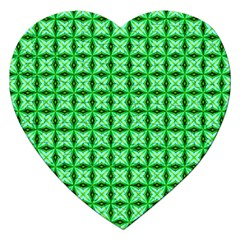 Green Abstract Tile Pattern Jigsaw Puzzle (heart) by creativemom