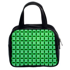 Green Abstract Tile Pattern Classic Handbag (two Sides) by creativemom