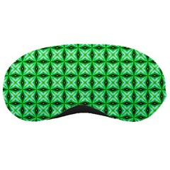 Green Abstract Tile Pattern Sleeping Mask by creativemom