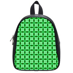 Green Abstract Tile Pattern School Bag (small) by creativemom