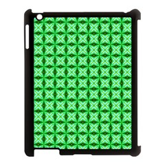 Green Abstract Tile Pattern Apple Ipad 3/4 Case (black) by creativemom