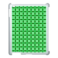 Green Abstract Tile Pattern Apple Ipad 3/4 Case (white) by creativemom