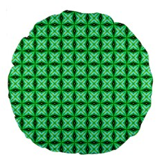 Green Abstract Tile Pattern 18  Premium Round Cushion  by creativemom