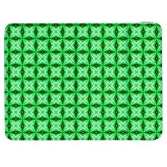 Green Abstract Tile Pattern Samsung Galaxy Tab 7  P1000 Flip Case by creativemom