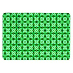 Green Abstract Tile Pattern Samsung Galaxy Tab 8 9  P7300 Flip Case by creativemom