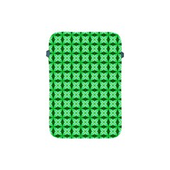 Green Abstract Tile Pattern Apple Ipad Mini Protective Sleeve by creativemom