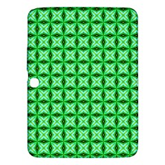 Green Abstract Tile Pattern Samsung Galaxy Tab 3 (10 1 ) P5200 Hardshell Case  by creativemom