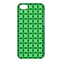 Green Abstract Tile Pattern Apple Iphone 5c Hardshell Case by creativemom
